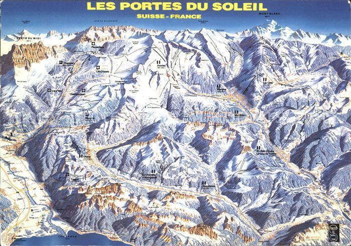 Chatel Haute Savoie Panoramakarte Les Portes du Soleil Kat. Chatel