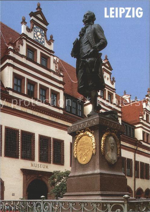 Leipzig Goethe Denkmal Statue Museum Kat. Leipzig
