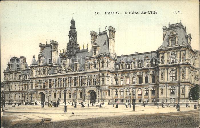 Paris L Hotel de Ville Kat. Paris