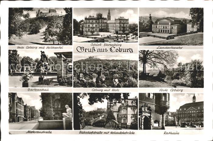 Coburg Schloss Ehrenburg Landestheater Gartenschau Mohrenstrasse  Kat. Coburg