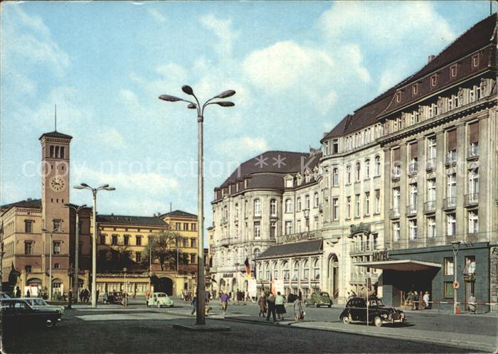 Erfurt Bahnhofsplatz mit Hotel Erfurter Hof Kat. Erfurt