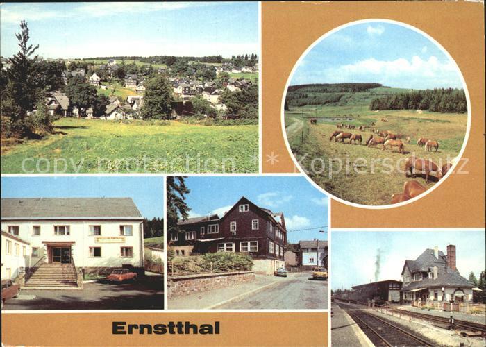 Ernstthal Haflinger Ferienheim Heinrich Rau Restaurant Rennsteig Bahnhof Kat. Lauscha Rennsteig