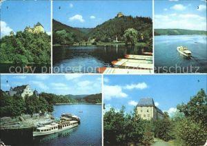 Schleiz Burgk Schloss Ziegenrueck Saaletalsperre Saalburg Kat. Schleiz