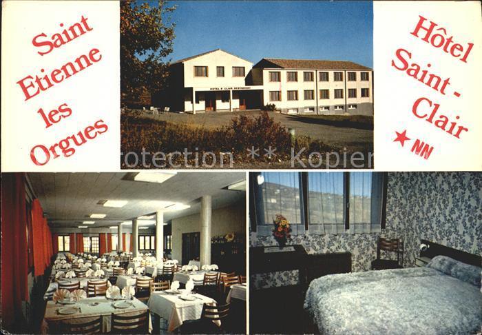 Saint Etienne les Orgues Hotel Saint Clair Kat. Saint Etienne les Orgues