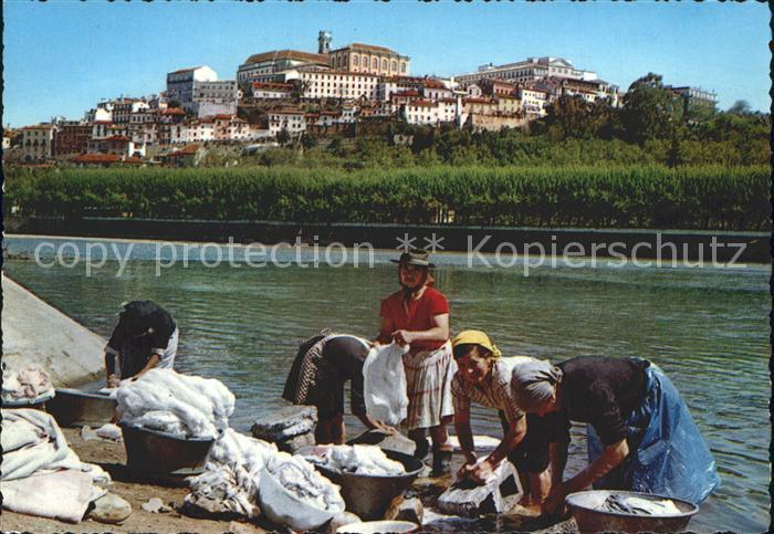 Coimbra Waschfrauen am Fluss Kat. Coimbra