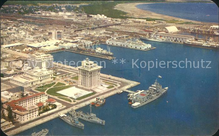 Veracruz Fliegeraufnahme Hafen  Kat. Veracruz