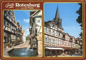 Rotenburg Fulda Brunnen Turm  Kat. Rotenburg a.d. Fulda