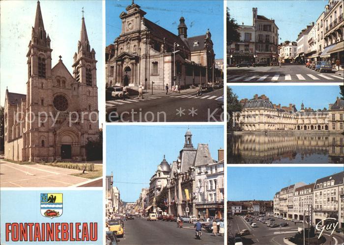Fontainebleau Seine et Marne Eglise Saint Merry Saint Louis Rue Grande Palais Etang Carpes  Kat. Fontainebleau