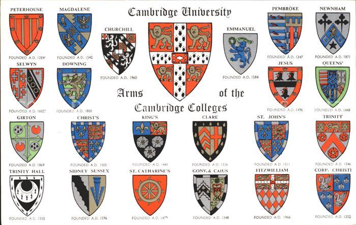 Cambridge Cambridgeshire University and Cambridge Colleges Wappen / Cambridge /Cambridgeshire CC