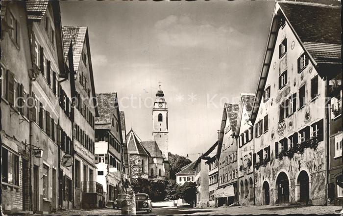 Horb Neckar Marktplatz mit Rathaus Kat. Horb am Neckar