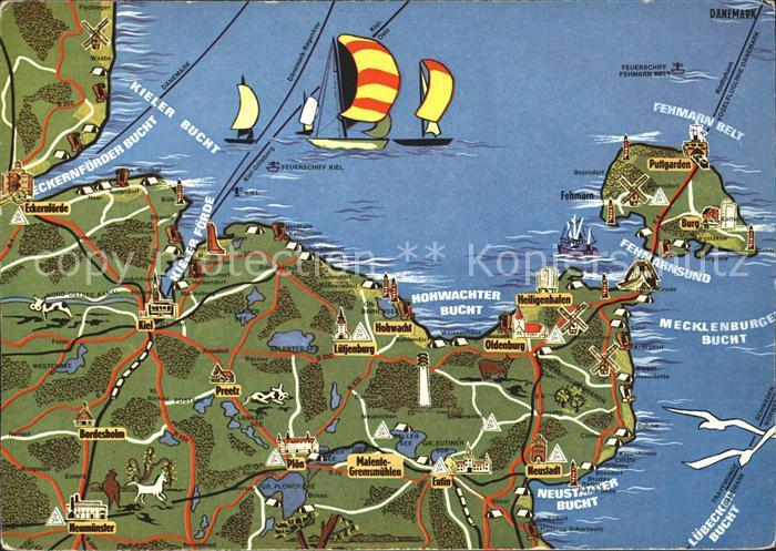 Fehmarn Landkarte Kat. Fehmarn