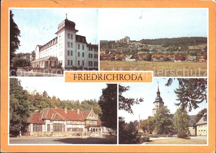Friedrichroda FDGB  Erholungsheim Hermann Danz Kirchplatz Kat. Friedrichroda
