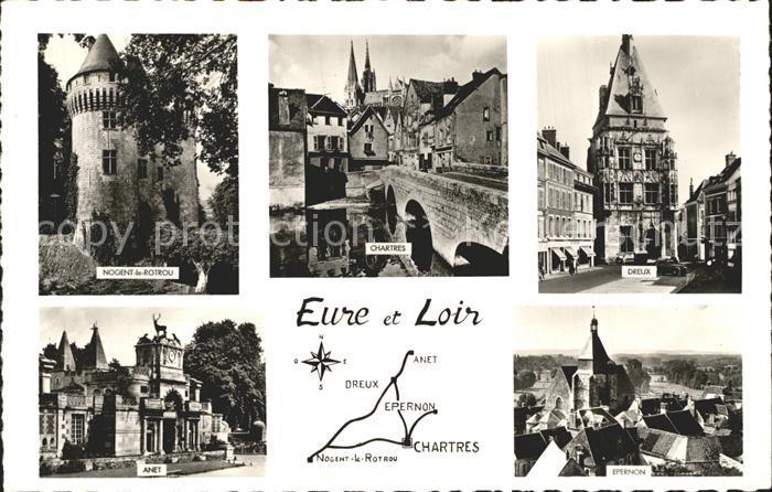 Dreux Eure Loir Chartres Anet Epernon Kat. Dreux