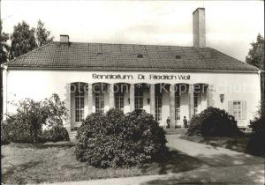 Bad Klosterlausnitz Sanatoriim Dr. Friedrich Wolf Kat. Bad Klosterlausnitz