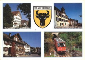 Evilard Zahnradbahn Gebaeude  Kat. Evilard Leubringen