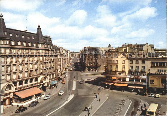 Luxembourg Luxemburg Place Gare Avenue Liberte Kat. Luxembourg
