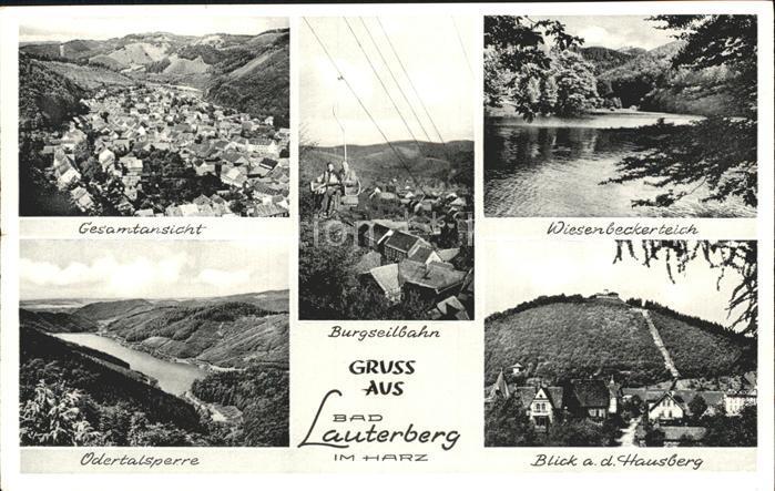 Bad Lauterberg Burgseilbahn Wiesenbeckerteich Odertalsperre Kat. Bad Lauterberg im Harz