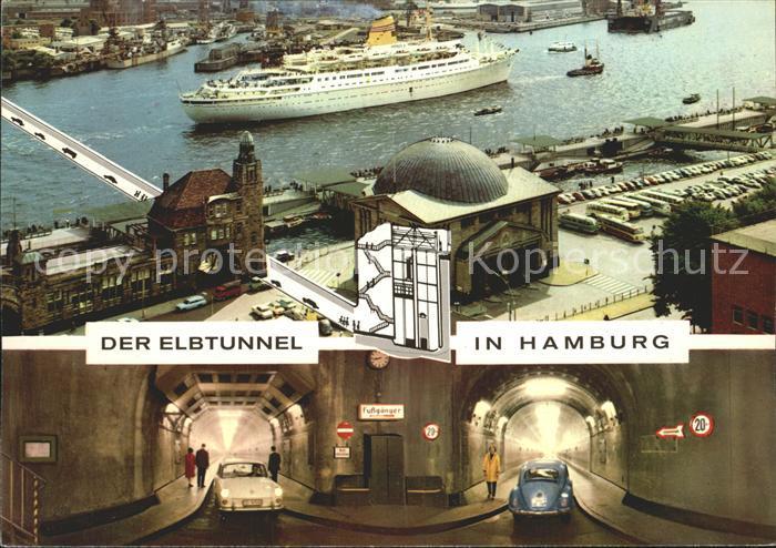 Hamburg Elbtunnel Kat. Hamburg