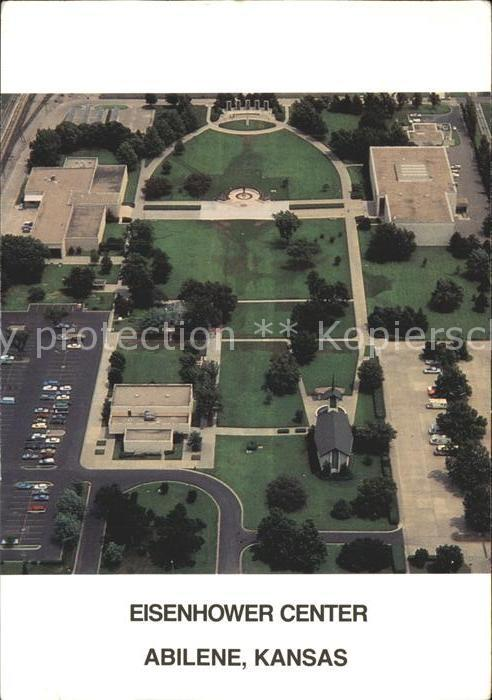 Abilene Kansas Fliegeraufnahme Eisenhower Center Kat. Abilene