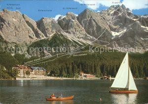 Garmisch Partenkirchen Eibsee Zugspitze Riffelscharte Kat. Garmisch Partenkirchen