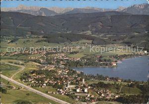 Seewalchen Attersee Fliegeraufnahme Schoerfling Kammer Hoellengebirge  Kat. Seewalchen am Attersee