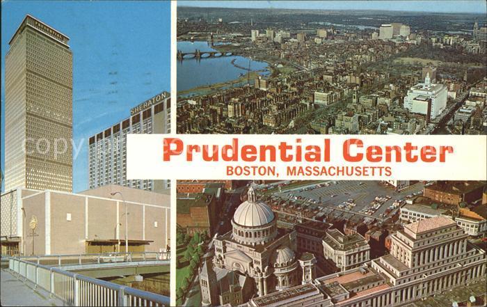 Boston Massachusetts Prudential Center Tower War Memorial Auditorium Sheraton Hotel Kat. Boston