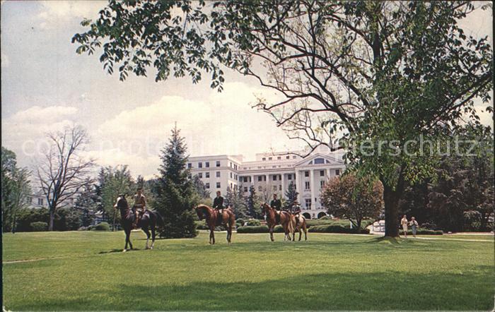 White Sulphur Springs West Virginia Greenbier Park Hotel Horses Kat. White Sulphur Springs