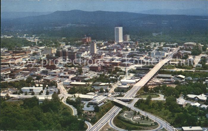 Greenville South Carolina Business Section aerial view Kat. Greenville