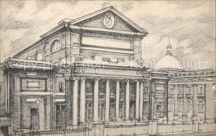 Boston Massachusetts Symphony Hall Boston Symphony Orchestra Drawing Kat. Boston