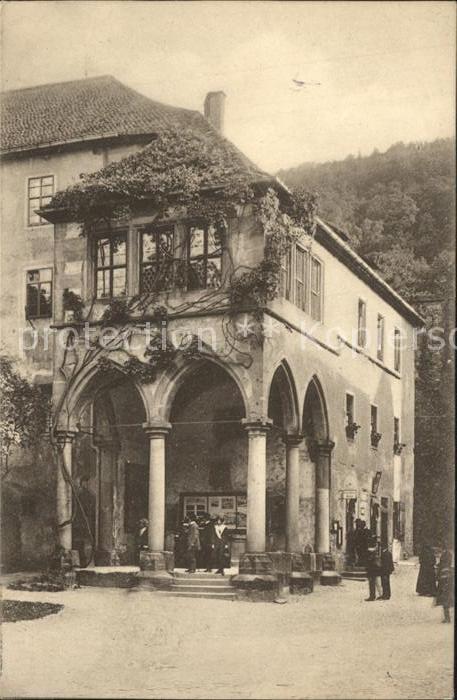 Heidelberg Neckar Brunnenhalle im Schlosshof Kat. Heidelberg