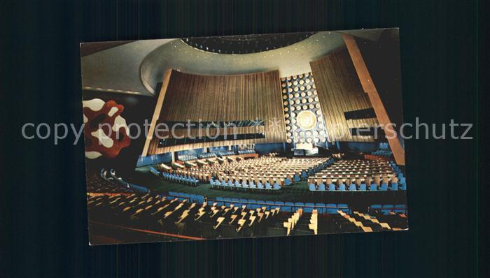 New York City United Nations General Assembly Hall / New York /