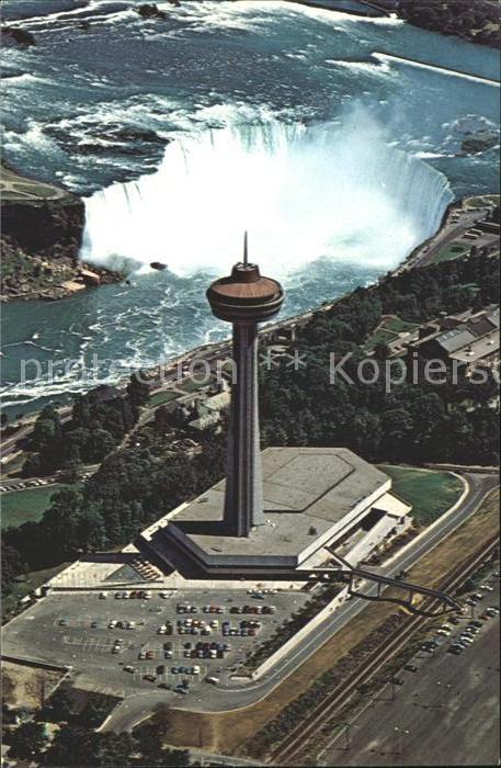 Niagara Falls Ontario Fliegeraufnahme Skylon Tower and Pavillon Kat. Niagara Falls Canada