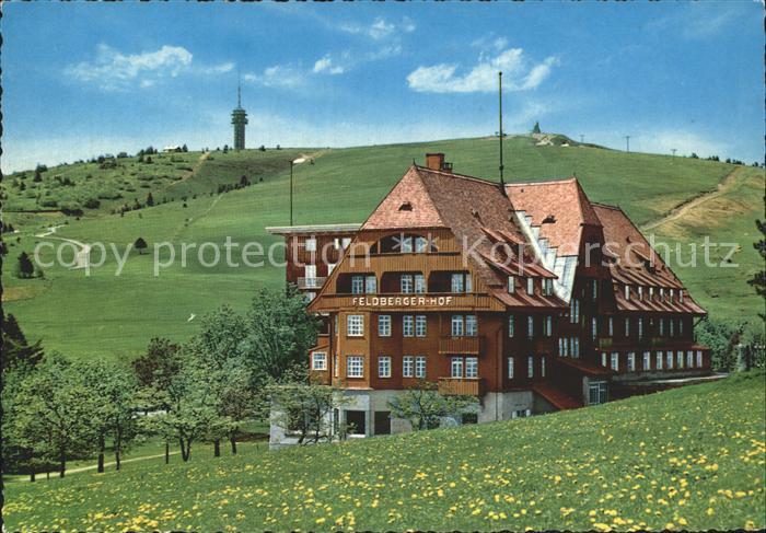 Feldberg Schwarzwald mit Hotel Feldberger Hof und Sendeturm Kat. Feldberg (Schwarzwald)