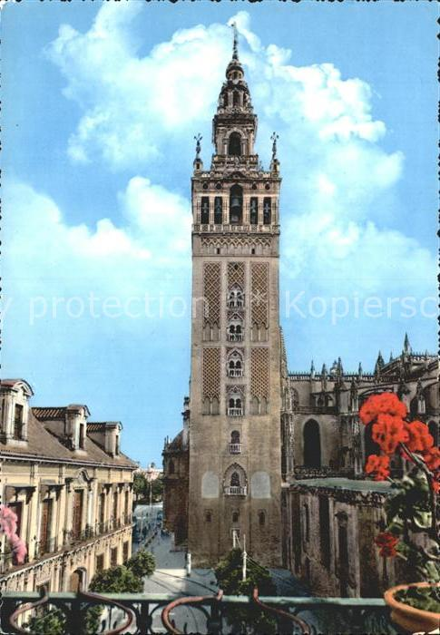 Sevilla Andalucia La Giralda Turm Kat. Sevilla