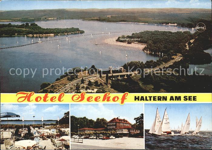 Haltern Hotel Seehof See Fliegeraufnahme Kat. Haltern am See