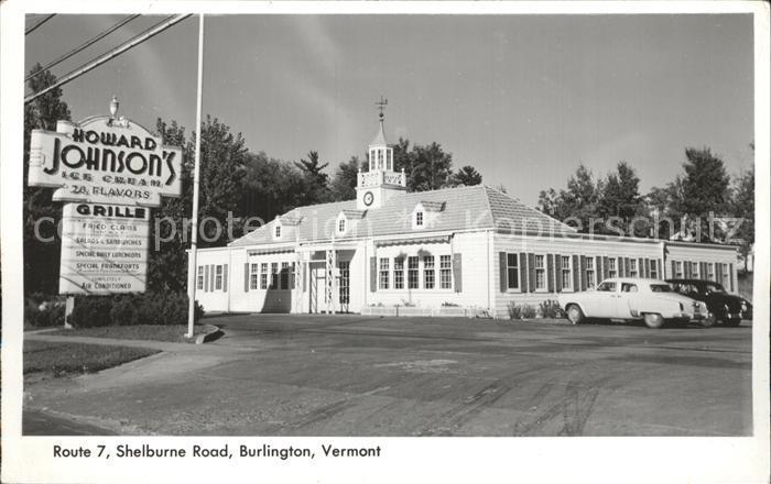 Burlington Vermont Howard Johnson s  Kat. Burlington