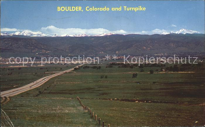 Boulder Colorado Turnpike Arapahoe Range  Kat. Boulder