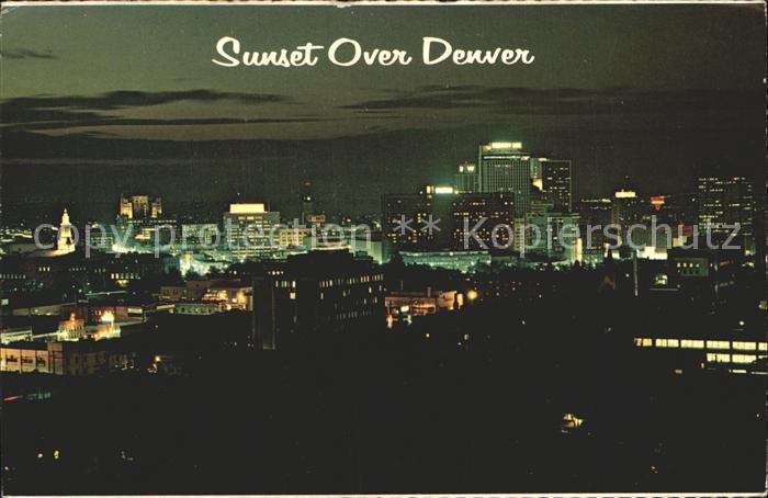 Denver Colorado Sunset over Denver Kat. Denver