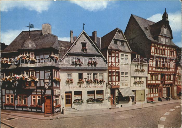 Adenau Hotel Historisches Haus Fachwerkhaeuser Marktplatz Kat. Adenau