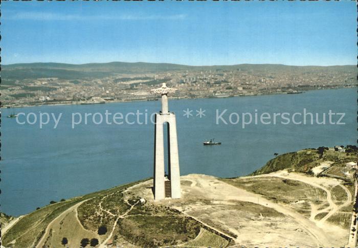 Almada Monumento a Christo Rei visto do ar Kat. Almada