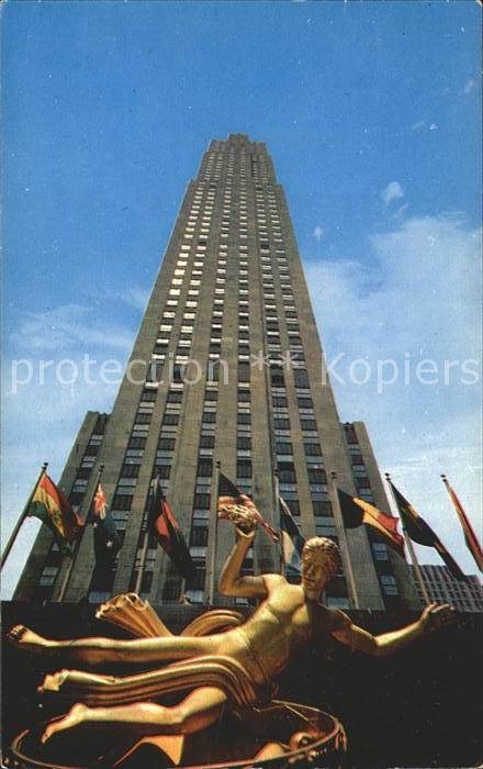 New York City RCA Building Rockefeller Center / New York /