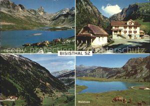 Bisisthal Glattalp Waldisee Gasthaus Schwarzenbach Kat. Bisisthal