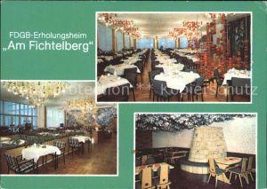 Fichtelberg Oberwiesenthal FDGB Erholungsheim Kat. Oberwiesenthal