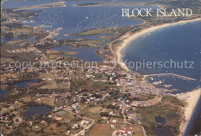 Block Island Fliegeraufnahme Kat. Block Island