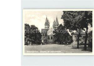 Halberstadt Domplatz mit Liebfrauenkirche Kat. Halberstadt
