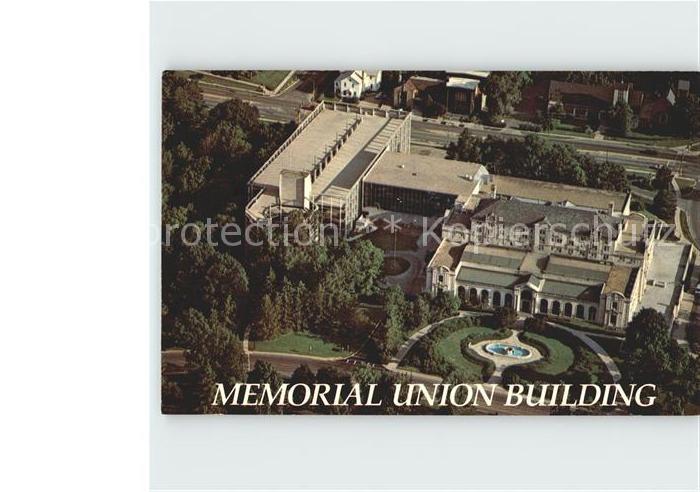 Ames Iowa Fliegeraufnahme Memorial Union Building Kat. Ames