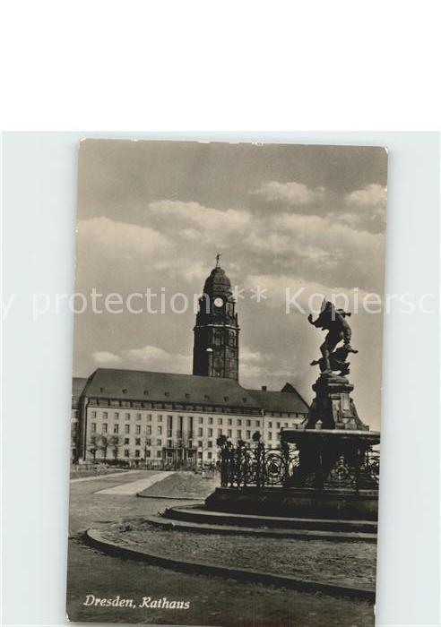 Dresden Rathaus Kat. Dresden Elbe