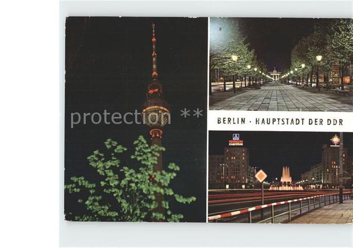 Berlin mit Fersnehturm Unter den Linden Kat. Berlin