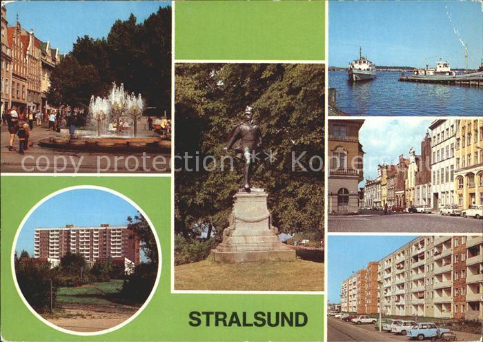 Stralsund Mecklenburg Vorpommern Rudolf Leonhard Weg Ferdinand von Schill Denkmal Kat. Stralsund