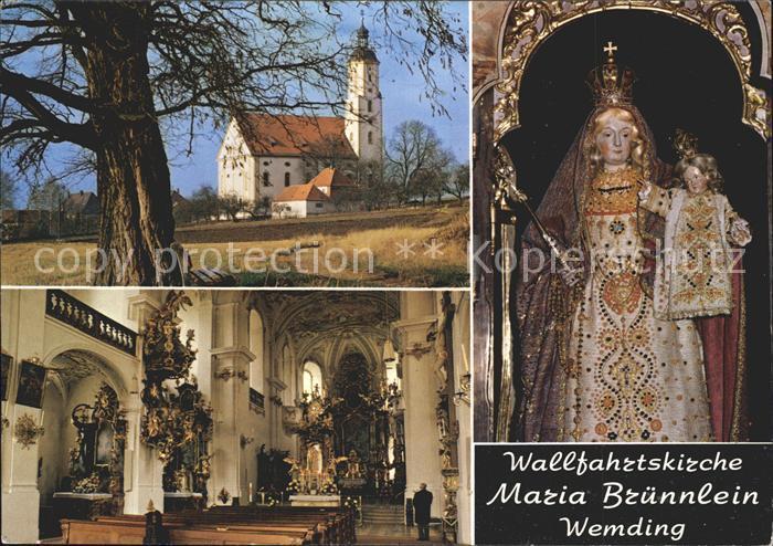 kg80617 Wemding Wallfahrtskirche Maria Bruennlein Kat. Wemding